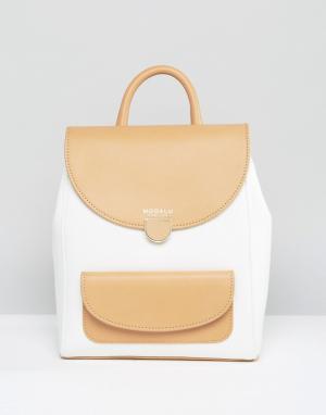 Маленький рюкзак Flora Modalu. Цвет: кремовый