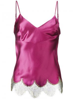 Топ с кружевной отделкой Gilda & Pearl. Цвет: розовый