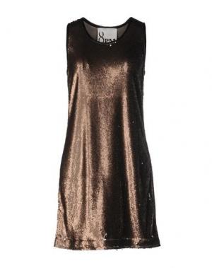 Короткое платье 8PM. Цвет: хаки