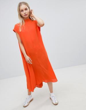 Длинное воздушное платье Weekday