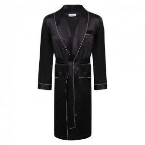 Шелковый халат Zimmerli. Цвет: серый