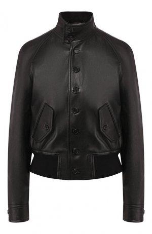 Кожаная куртка Ralph Lauren. Цвет: чёрный