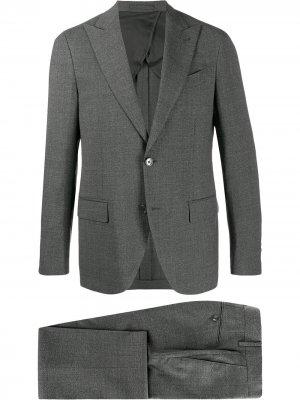 Delloglio однобортный костюм-двойка Dell'oglio. Цвет: серый