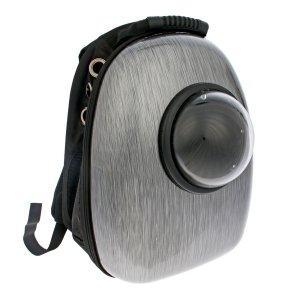 Рюкзак для переноски животных с окном обзора, 32 х 25 42 см, серебристо-чёрный Пижон