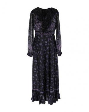Длинное платье ANNA SUI. Цвет: темно-фиолетовый