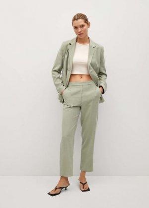 Прямые костюмные брюки - Tempo Mango. Цвет: зеленый