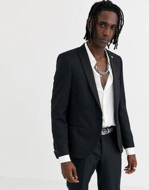 Черный пиджак-смокинг Twisted Tailor