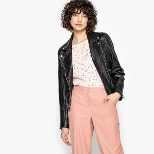 Блузон кожаный в байкерском стиле LA REDOUTE COLLECTIONS. Цвет: бордовый,черный