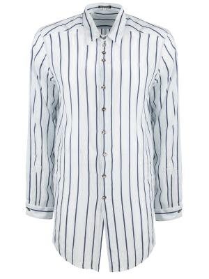 Рубашка в полоску ANN DEMEULEMEESTER. Цвет: белый