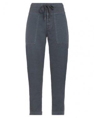 Повседневные брюки JAMES PERSE. Цвет: стальной серый