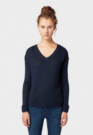 Пуловер Tom Tailor Denim. Цвет: синий