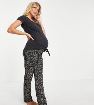 Черная пижама для кормящих матерей из органического хлопка с принтом Mamalicious Maternity-Многоцветный Mama.licious