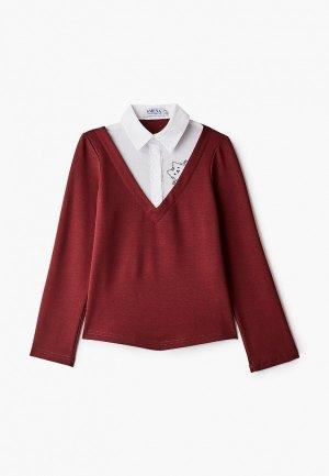 Пуловер Smena. Цвет: бордовый