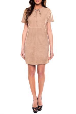 Платье John & Yoko. Цвет: бежевый