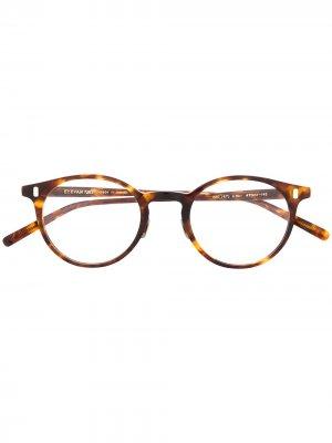 Очки в круглой оправе черепаховой расцветки Eyevan7285. Цвет: коричневый
