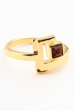 Кольцо Slava Zaitsev. Цвет: золотой, коричневый
