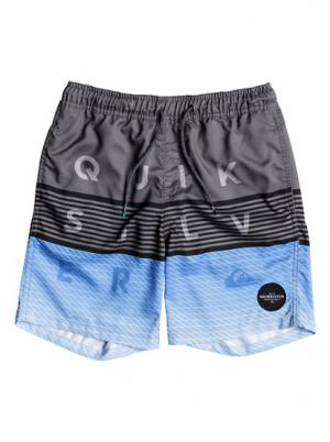 Пляжные шорты Word Block 15 - Черный Quiksilver. Цвет: черный