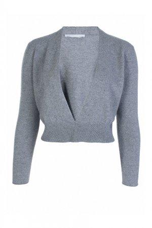 Серый пуловер из смеси шерсти и шелка Fabiana Filippi. Цвет: серый