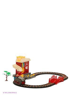 Железная дорога Голубая стрела. Цвет: красный, серый, светло-коричневый
