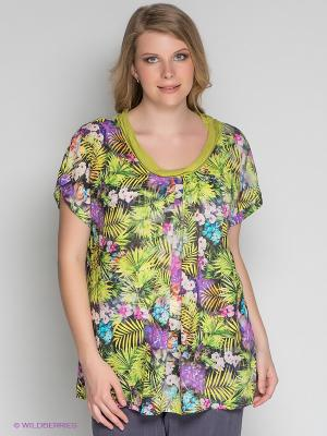 Блузка ARDATEX. Цвет: зеленый, бирюзовый, желтый