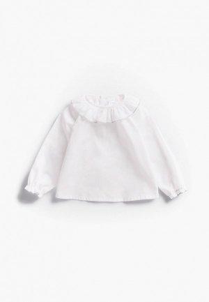 Блуза Mango Kids ZAZU. Цвет: белый