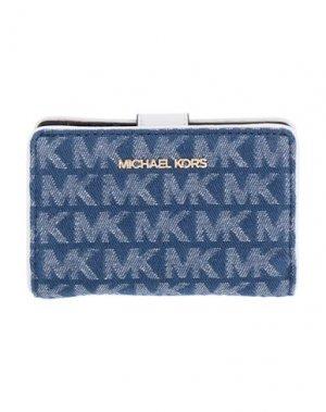 Бумажник MICHAEL KORS MENS. Цвет: синий