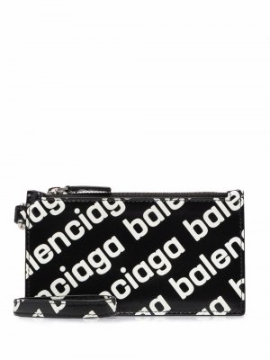 Logo-print cardholder Balenciaga. Цвет: черный