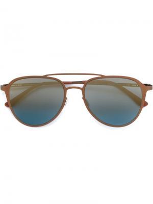Солнцезащитные очки-авиаторы Italia Independent. Цвет: коричневый