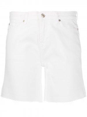 Джинсовые шорты с завышенной талией 7 For All Mankind. Цвет: белый