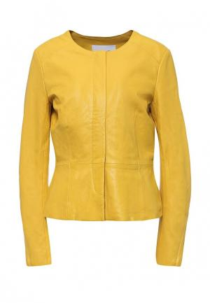 Куртка кожаная Max&Co. Цвет: желтый