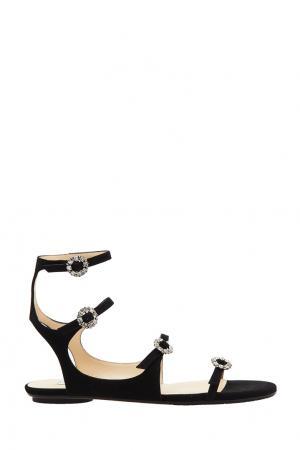 Черные сандалии Naia Flat Jimmy Choo. Цвет: черный