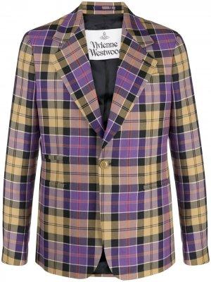 Однобортный пиджак в клетку Vivienne Westwood. Цвет: нейтральные цвета