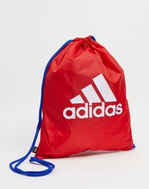 Красная спортивная сумка с логотипом performance-Красный adidas