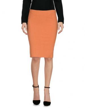 Юбка до колена CELYN B.. Цвет: оранжевый