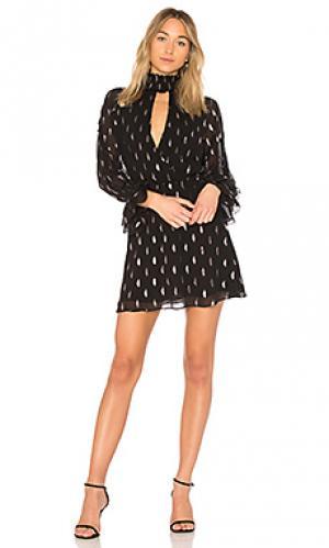 Платье с длинным рукавом shelli Parker. Цвет: черный