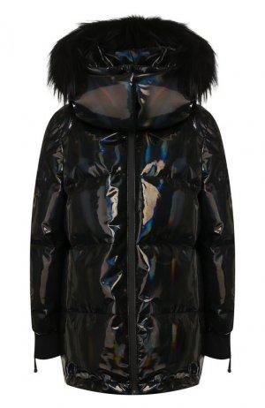 Пуховая куртка Fendi. Цвет: черный
