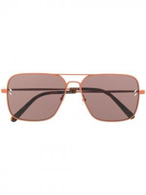 Солнцезащитные очки-авиаторы Stella McCartney Eyewear. Цвет: оранжевый