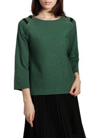 Пуловер MANODE. Цвет: green, black