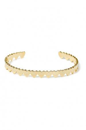 Золотистый фигурный браслет Aqua. Цвет: золотой