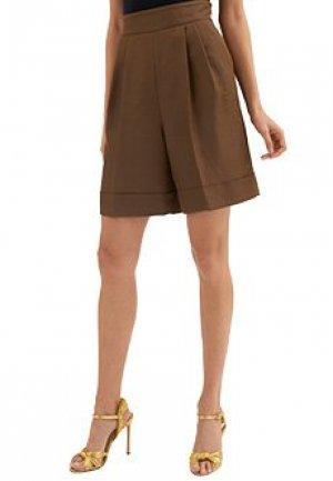 Шорты LUISA SPAGNOLI. Цвет: коричневый