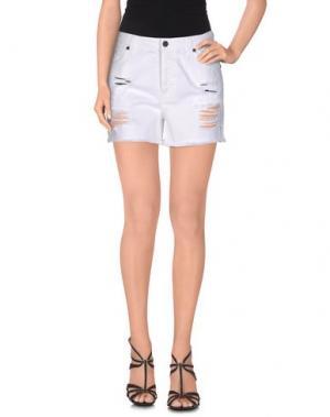 Джинсовые шорты UP ★ JEANS. Цвет: белый