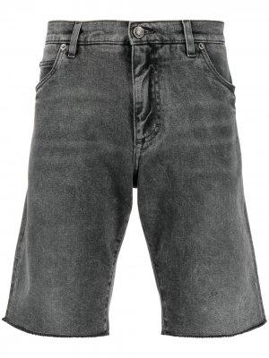 Джинсовые шорты с эффектом потертости Dolce & Gabbana. Цвет: серый