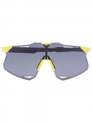 Спортивные солнцезащитные очки Hypercraft 100% Eyewear. Цвет: черный