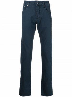 Прямые джинсы с нашивкой-логотипом Jacob Cohen. Цвет: синий