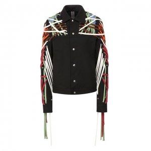 Джинсовая куртка Rick Owens. Цвет: чёрный