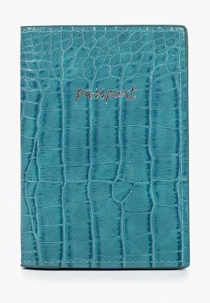 Обложка для паспорта Zarina. Цвет: бирюзовый