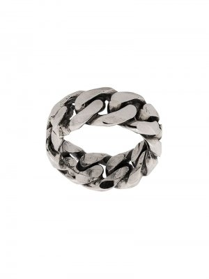 Rigid curb chain-style ring Emanuele Bicocchi. Цвет: серебристый