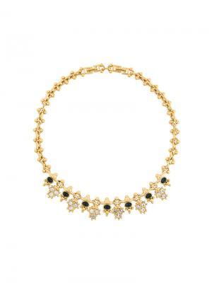Ожерелье с кристаллами Nina Ricci Pre-Owned. Цвет: золотистый