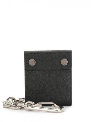 Бумажник с цепочкой Neil Barrett. Цвет: черный