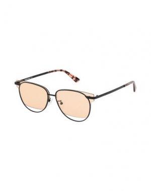 Солнечные очки McQ Alexander McQueen. Цвет: черный